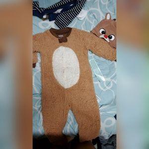 Rudolph toddler onesie